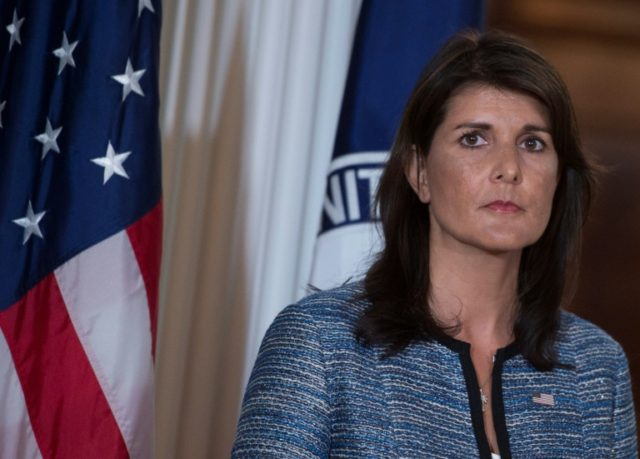 """The Syrian regime's violations of the ceasefire in southwest Syria need to stop,"" US Ambassador to the UN Nikki Haley said in a statement"