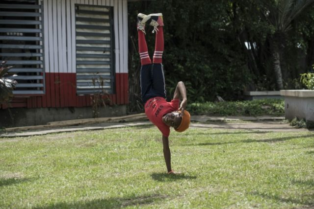 Dream Catcher Nini shows off her moves. Life for the dance-mad street children has literally been turned upside down thanks to a viral video