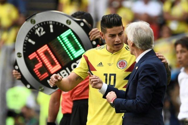 Colombia coach Jose Pekerman drops a hint that star striker James Rodriguez might start against Poland