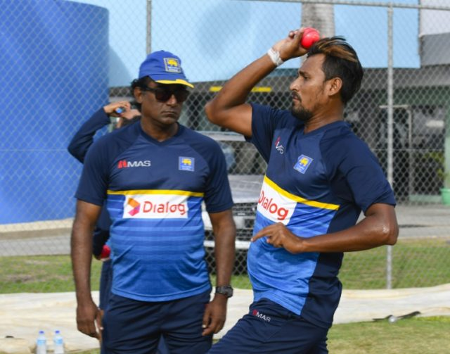 Lakmal (R) will captain Sri Lanka for the final Test against the West Indies, due to begin later on Saturday