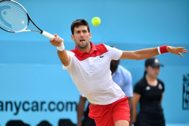 Novak Djokovic ended his final drought as the former world number one reached his first title match for a year with a 7-6 (7/5), 6-4 win against Jeremy Chardy at Queen's Club on Saturday
