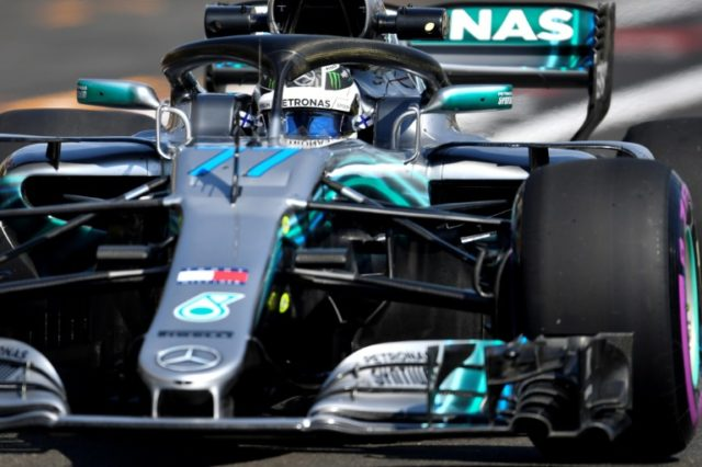 Mercedes' driver Valtteri Bottas fastest in storm-delayed practice in France