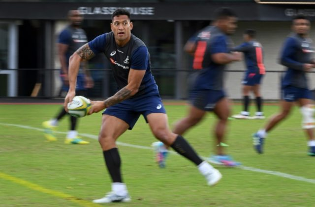 Australia's Israel Folau clashed three times with Irish skipper Peter O'Mahony during Saturday's final test
