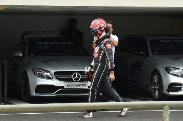 It's a joke: Haas driver Romain Grosjean at the French Grand Prix on Sunday
