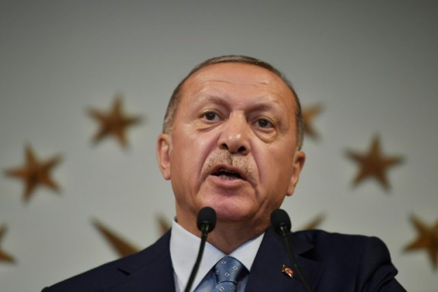 """Turkish President Recep Tayyip Erdogan says he has been """"entrusted by the nation"""" to lead again"""
