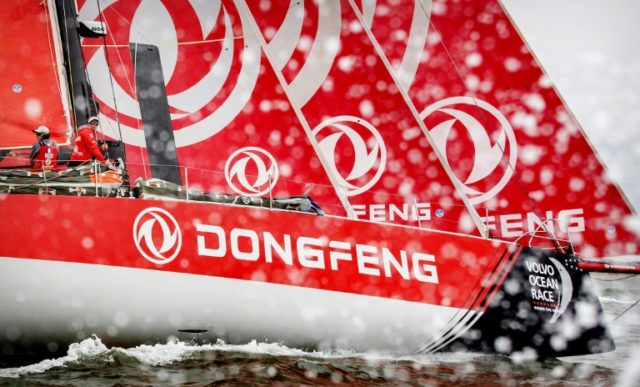 Frenchman Charles Caudrelier skippered Chinese yacht Dongfeng to a thrilling victory in the Volvo Ocean Race on Sunday after the closest finish in the race's 45-year history