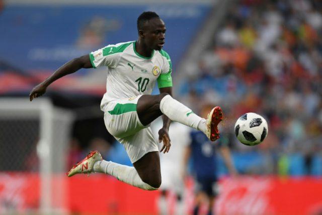Senegal forward Sadio Mane in action against Japan
