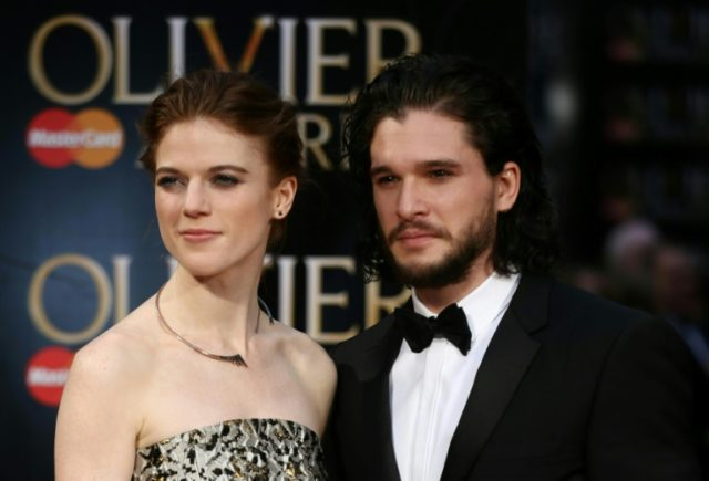 British actor Kit Harington and British actress Rose Leslie met on set of Game of Thrones in 2012