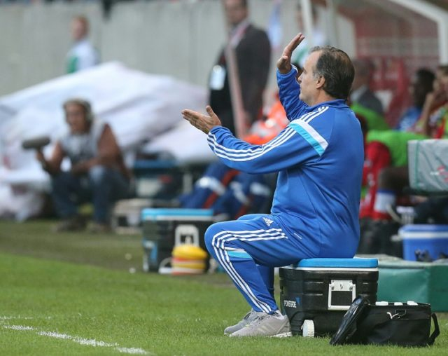 MLeeds coach Marcello Bielsa, who was known for sitting pitchside at Marseille on an icebox, is legendary for the turning up the tension to fever pitch AFP PHOTO / FRANCOIS NASCIMBENI