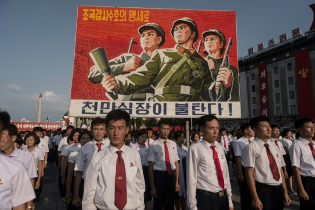 Less than a year ago, Pyongyang hosted this rally in support of North Korea's stance against the US