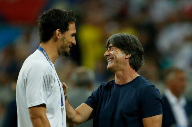 Germany defender Mats Hummels (left) is set to return to face South Korea