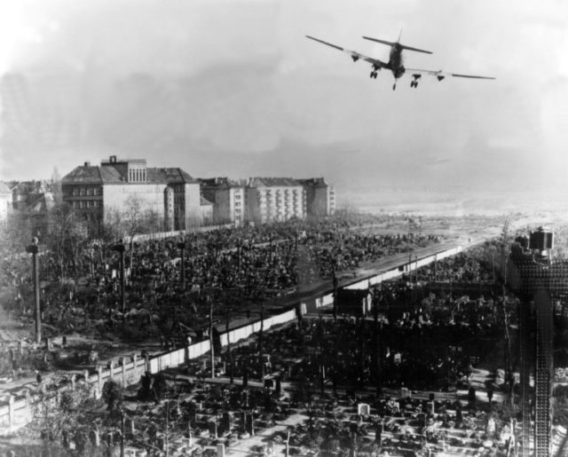 For almost a year, mainly American and British pilots created a lifeline to support war-ravaged West Berlin, then encircled and blockaded by Soviet forces, with food and fuel