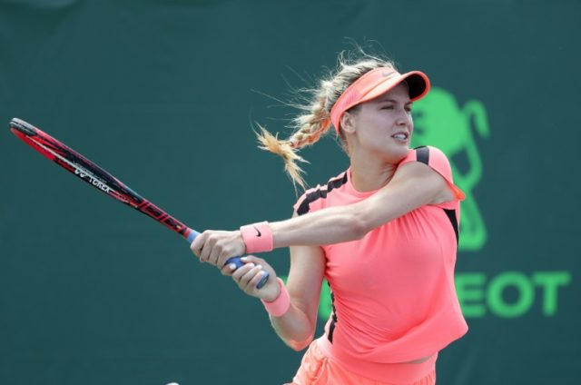 Eugenie Bouchard made a winning start to her bid to qualify for Wimbledon