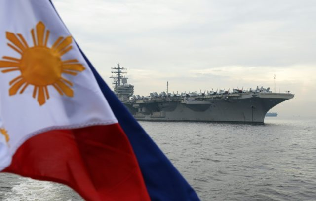 The USS Ronald Reagan is in the Philippines as part of a mission to reassure Washington's allies in the region