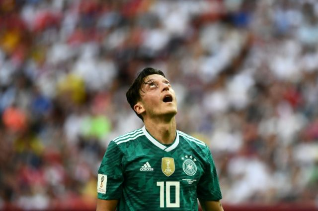 Mesut Ozil was on the losing side as Germany crashed out of the World Cup