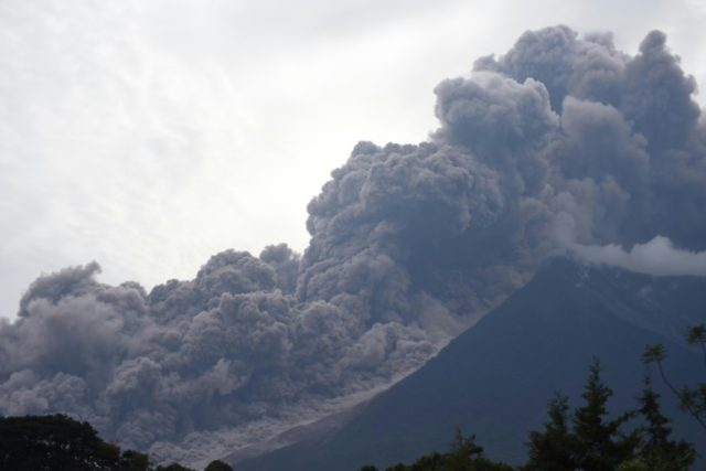 Guatemala's Fuego volcano erupting on June 3, 2018