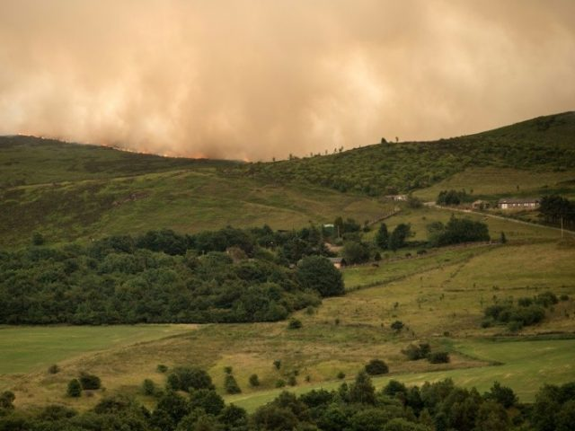 "Police have declared the fire, which is still spreading across the moorland, a ""major incident"""