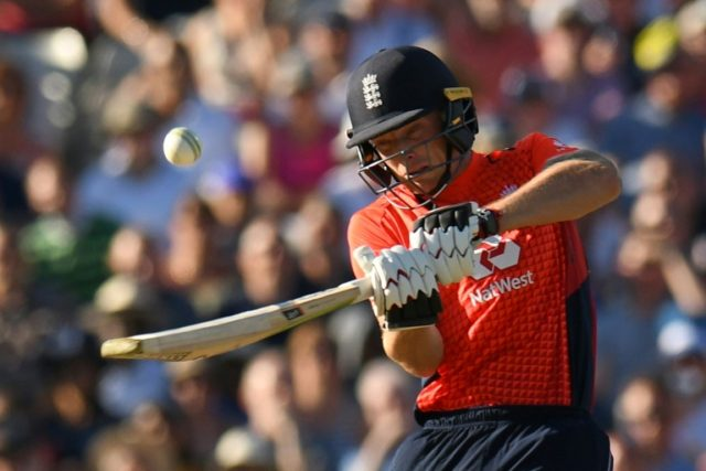 In the runs: England's Jos Buttler in action against Australia on Wednesday