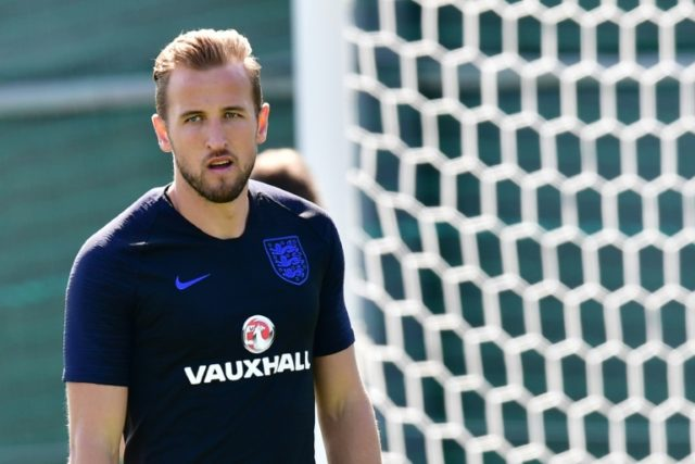 Hungry: England's Harry Kane is leading the race for the World Cup Golden Boot