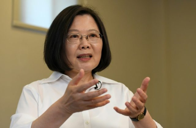 Taiwan's President Tsai: under fire from China