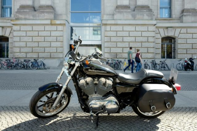 A Harley-Davidson motorcycle pictured in Germany, where the EU has retaliated with tariffs on the legendary American brand