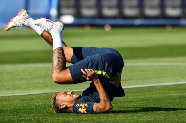 Neymar, shown during a training exercise in Russia, scored against Costa Rica but has been heavily criticized by fans in Brazil for his World Cup performance so far