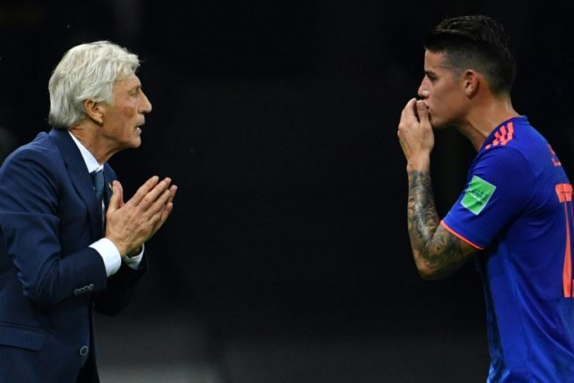 Jose Pekerman and star Colombia midfielder James Rodriguez are not ready to go home yet