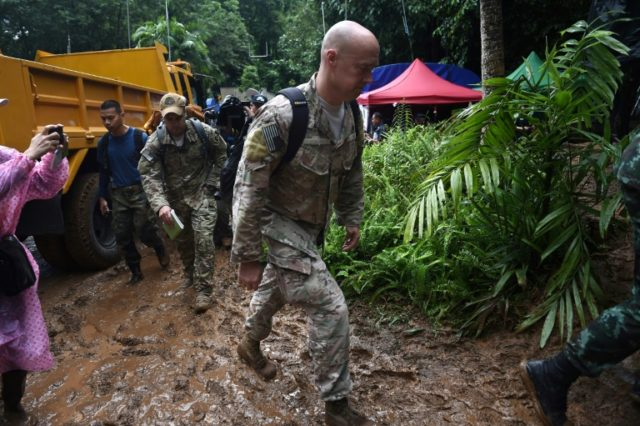 US military personnel have joined the search for the trapped children