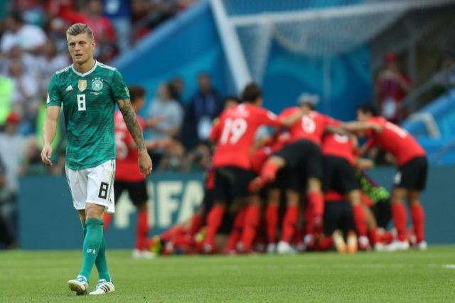 Toni Kroos could not prevent Germany from suffering the defeat to South Korea that ended the World Cup holders' hopes