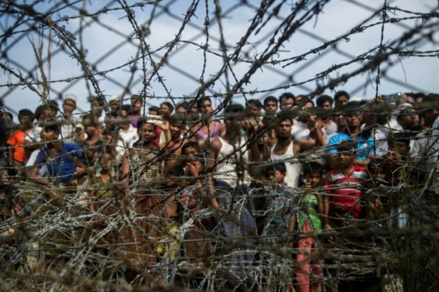 More than 700,000 Rohingya Muslims were forced to flee Rakhine state in Myanmar last year after a military crackdown