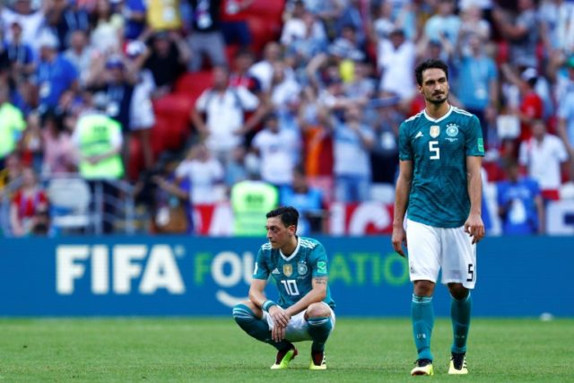 Mesut Ozil and Mats Hummels were two of Germany's under-performing players