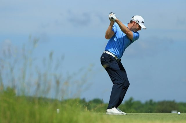 Hitting the front: Bradley Dredge leads the French Open