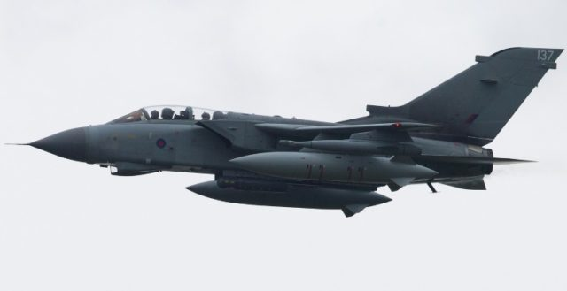 A British Royal Air Force Tornado jet is one of the planes on display