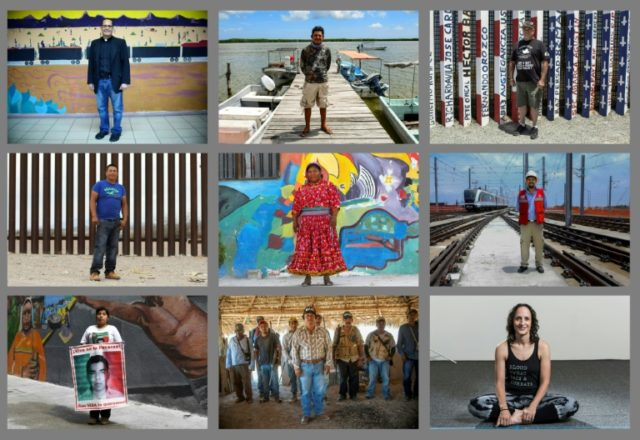 Mosaic of photos of Mexicans who described what they hoped for in Sunday's presidential elections