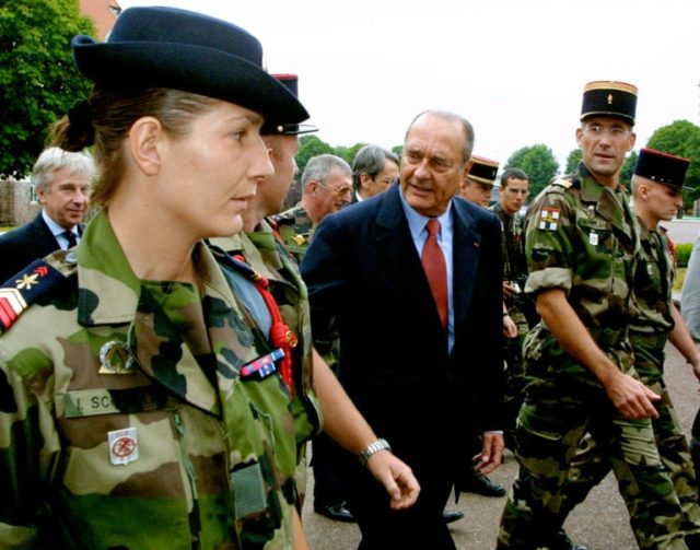 Former French president Jacques Chirac ended in 2001 compulsory military service of ten months for young men starting at age 18