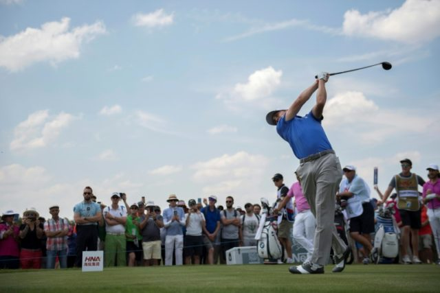 Star power: World number two Justin Thomas tees off in the second round