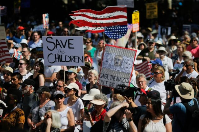 This demonstration in New York is one of many planned across the United States to protest President Donald Trump's hardline immigration policy