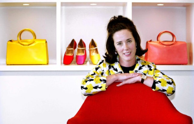 KATE SPADE POSE WITH HANDBAGS