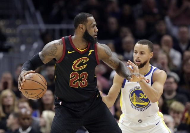 The Latest: Cavaliers start strong, can't shake Warriors