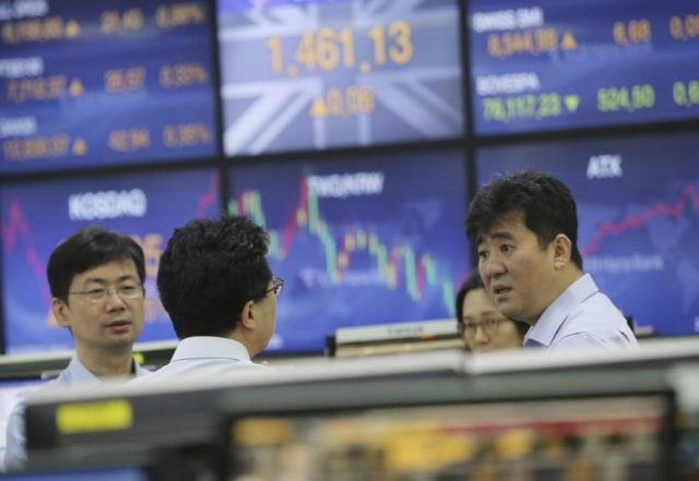 Global stocks higher as investor worries on Italy ease