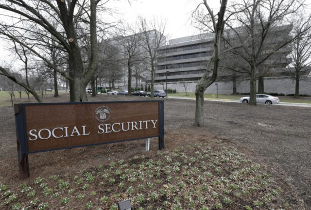 In this Jan. 11, 2013 file photo, the Social Security Administration's main campus is seen in Woodlawn, Md. Medicare's financial problems have gotten worse, and Social Security's can't be ignored forever. The government's annual assessment is a sobering checkup on programs vital to the middle class. The report from program …