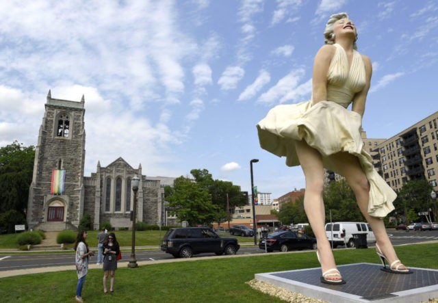 Marilyn Monroe statue near church draws some ire
