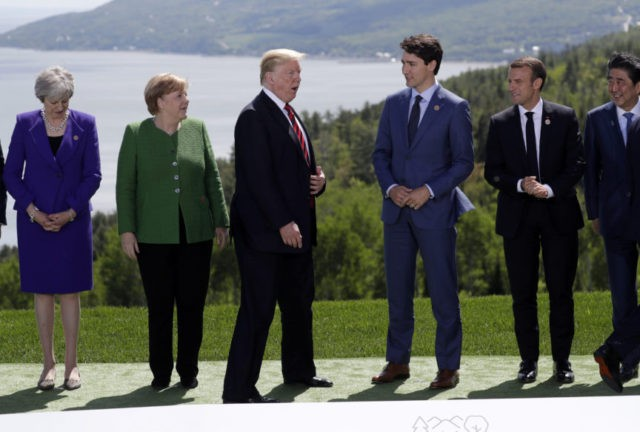 The Latest: Trump, G-7 leaders hold summit working session