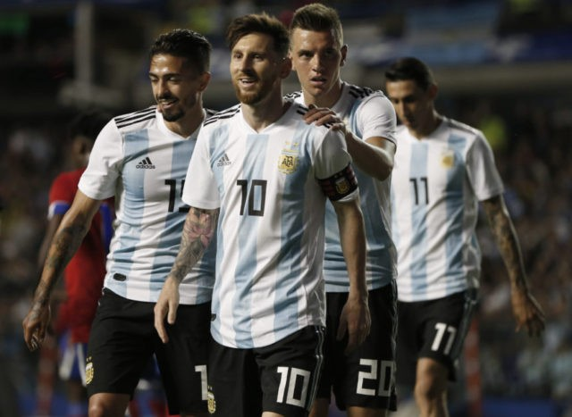 The Latest: Argentina looking up at towering foe Iceland