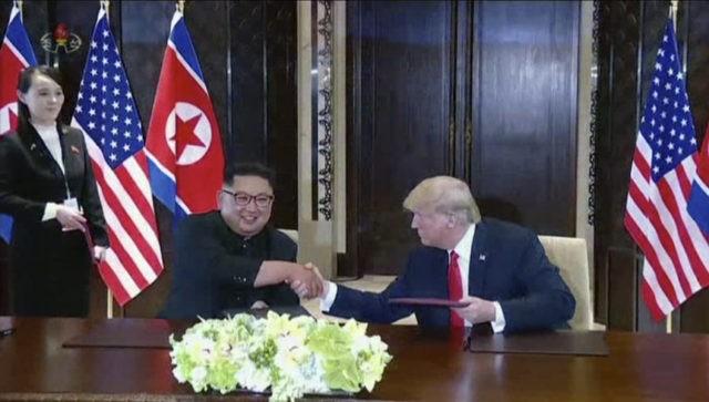 Kim Jong Un, Donald Trump, Kim Yo Jong
