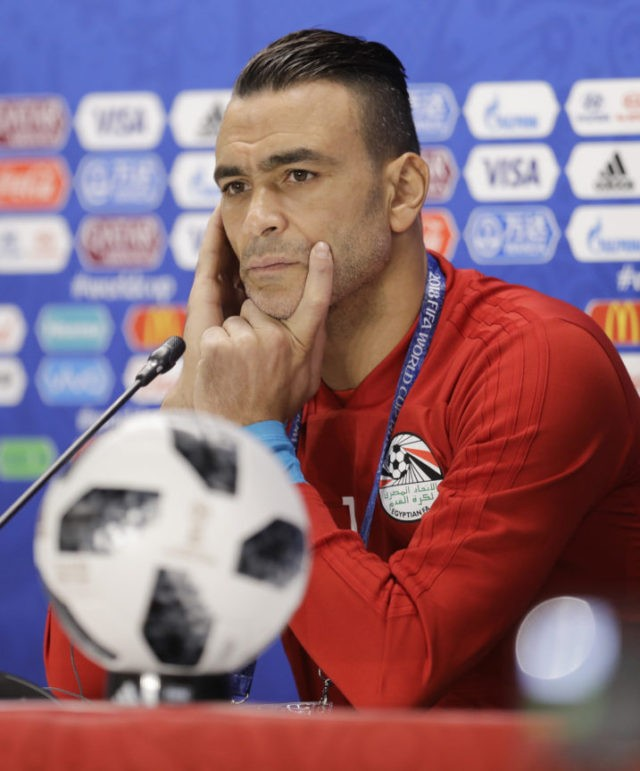 The Latest: El-Hadary hopes to be oldest World Cup player