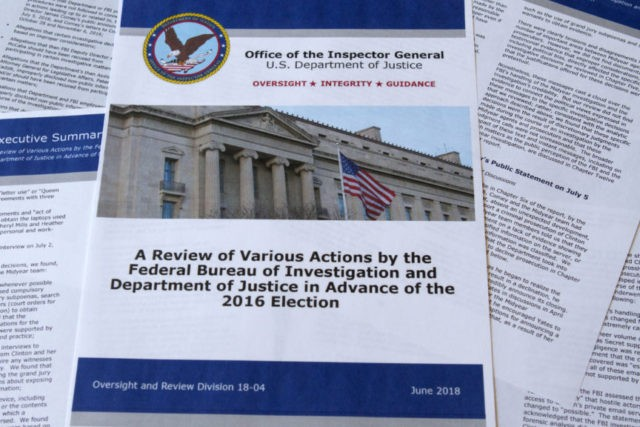 Key findings of Justice watchdog report on Clinton probe