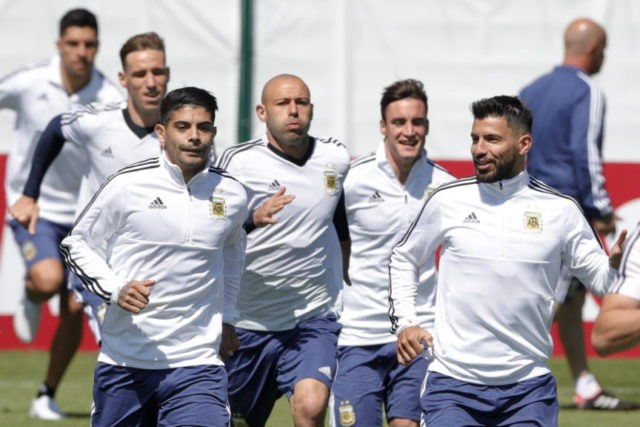 The Latest: Argentina names Aguero in team to play Iceland