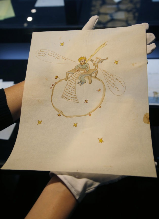 Illustrated love letter by Little Prince author is auctioned