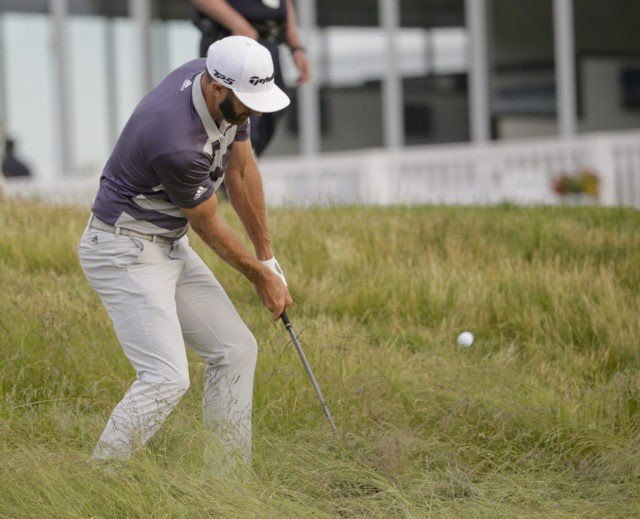 Johnson in 4-way tie after day of survival at US Open